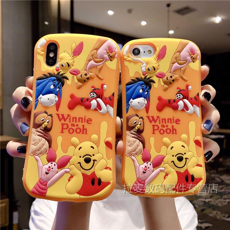 ins风日韩卡通小熊oppor9s手机壳oppo r9plus立体r15可爱软壳限2000张券