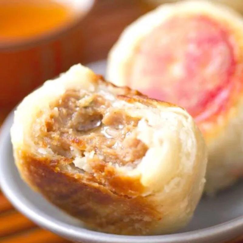 12个 西区老大房 上海鲜肉月饼老字号南京路真肉馅苏州礼盒 包邮