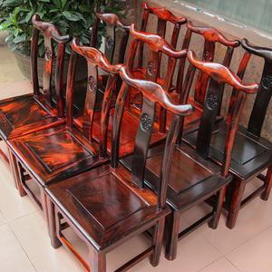 红木凳子老挝大红酸枝换鞋凳交趾黄檀官帽靠背椅小椅子小木凳实木
