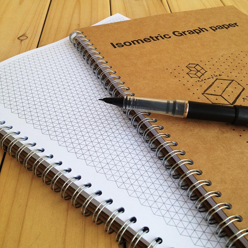 胖小姐三角等距 网格本 网点本 立体笔记本(交互原型UI产品设计)