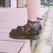 秋季新款英伦风小皮鞋女厚底软皮乐福鞋女真皮单鞋2020达芙妮女鞋