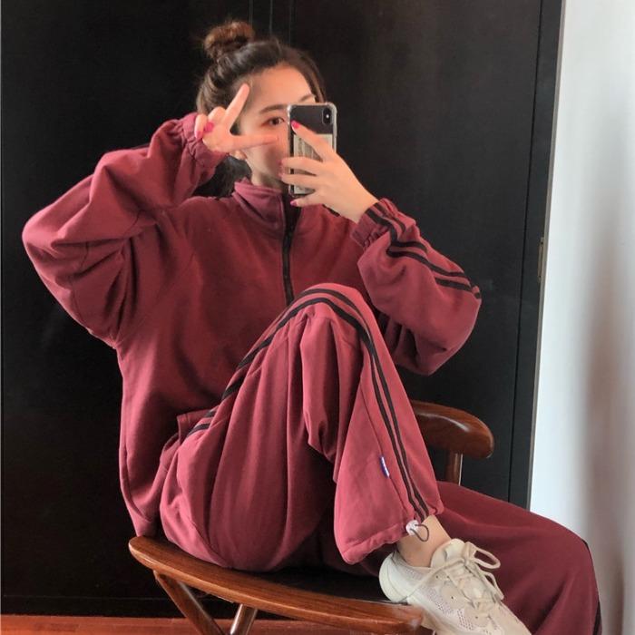 满69.90元可用1元优惠券2019新款韩版女秋装网红运动阔腿裤