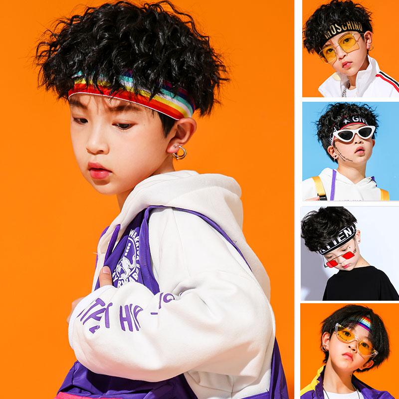 儿童街舞配饰男童发带韩版幼儿嘻哈头带潮童女童发箍少儿夏季头饰