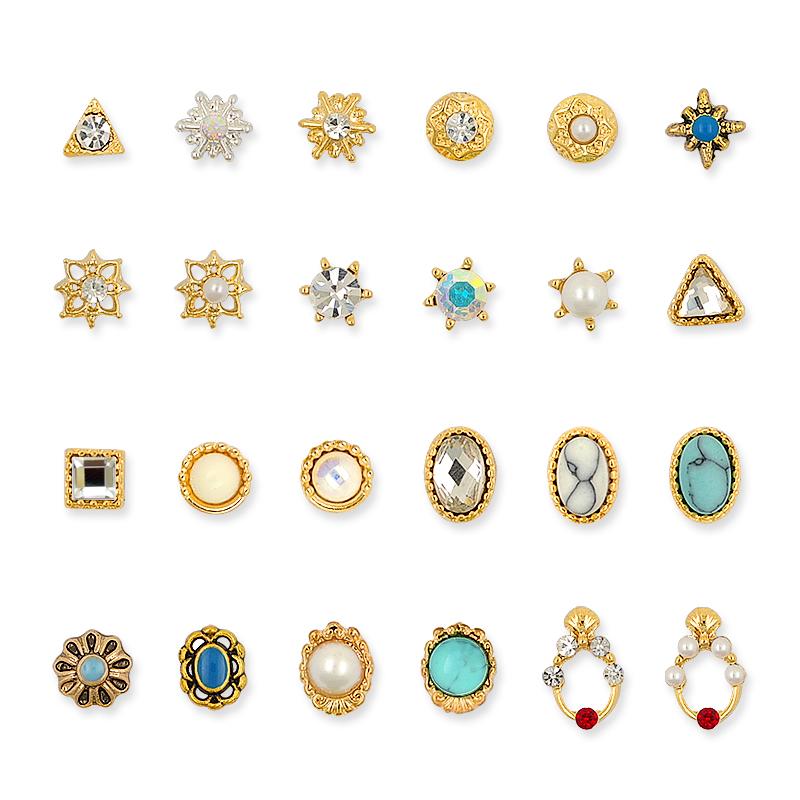 新款松石美甲钻石