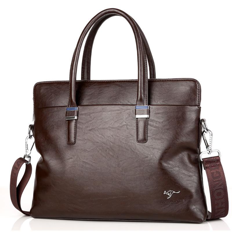 2019 large capacity mens bag handbag business Bag Shoulder Bag Messenger Bag mens bag soft leather briefcase Backpack