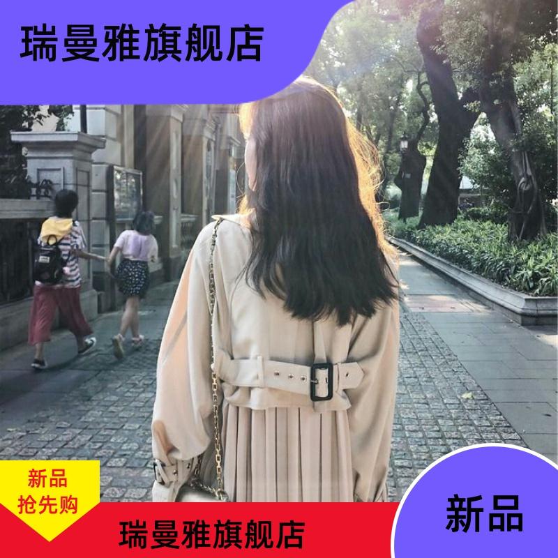 风衣女长袖2020春秋新款韩版宽松中长款工装外套复古港味百搭外衣