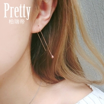 Berry 925 Silver earrings female long ear nail earrings korean temperament ear chain simple fashion ear line ear Jewelry