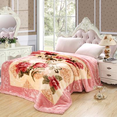 庆保毯层超柔拉绒斤人人双子毯加厚婚单6-7-尔盖毯9-12双暖毛8-舍