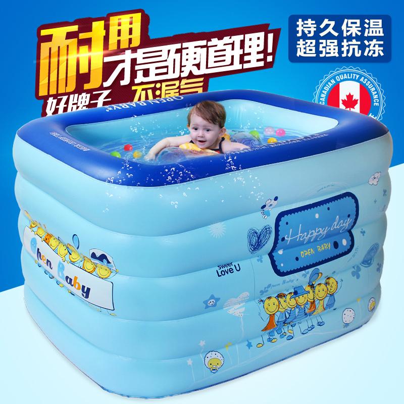 欧培宝宝游泳池家用婴幼儿游泳桶充气洗澡池新生儿童泳池小孩家庭