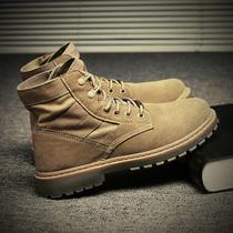 冬季男士馬丁靴男高幫男鞋黑雪地加絨保暖棉鞋中幫靴子工裝潮鞋子