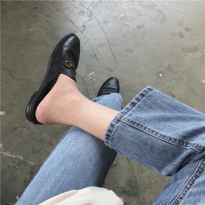 muzi 18秋/好版型 经典款!好穿显瘦修腿型百搭九分直筒牛仔裤女