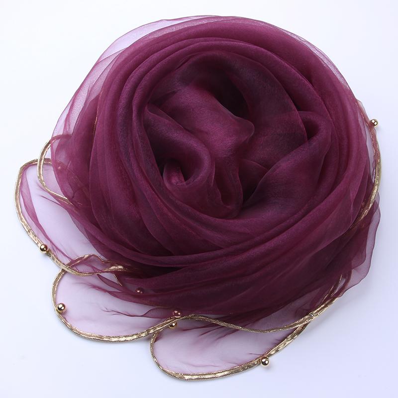 マフラー春夏秋冬シンプルで無地の薄いスカーフの大きいスカーフのファッションにぴったりです。