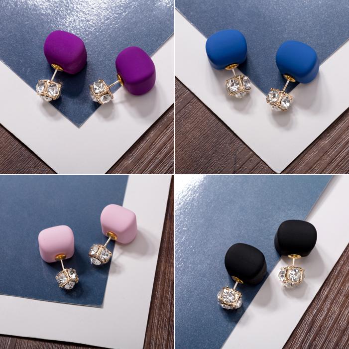 Boucles oreilles femme en Alliage / argent / plaqué or - Le Japon et la Corée du Sud - Ref 1113982 Image 1