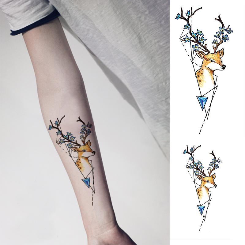 宝宝兔创意麋鹿防水仿真持久纹身贴