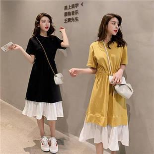 2019新款韩版宽松拼接套装裙连衣裙