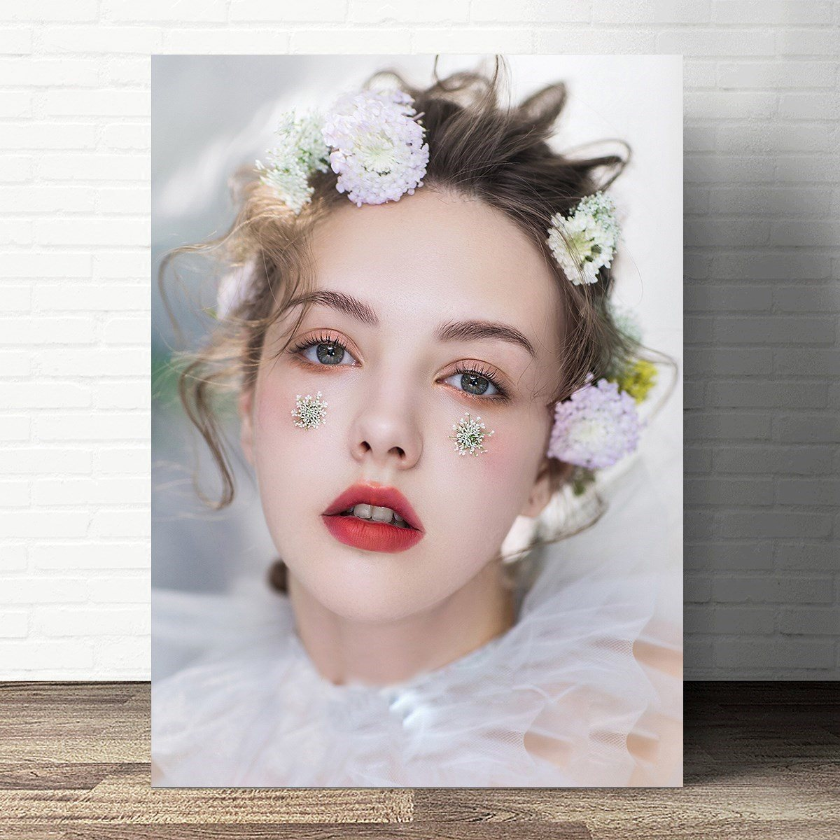 宣传画发型盘发海报写真定制跟妆彩妆造型广告图片新娘妆新娘化妆