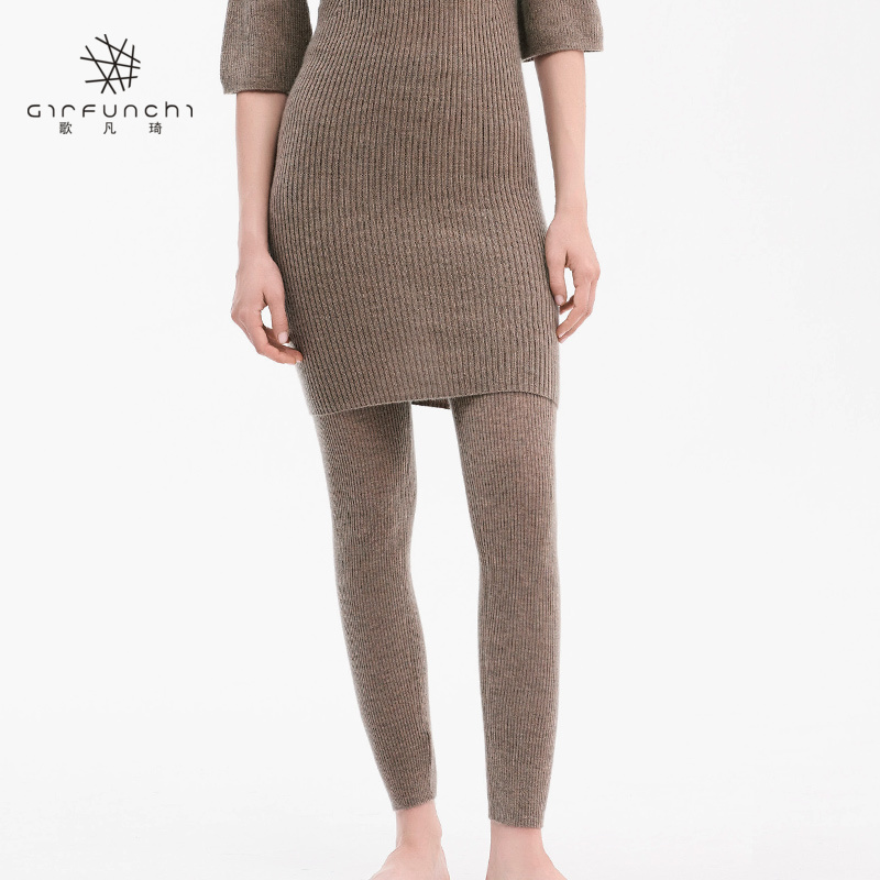 Plush and thickened outer cashmere wool Leggings womens autumn / winter 2018 warm solid color small foot pencil pants