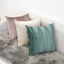 现代简约纯色抱枕靠垫沙发办公室大靠背垫长腰枕床头抱枕套不含芯