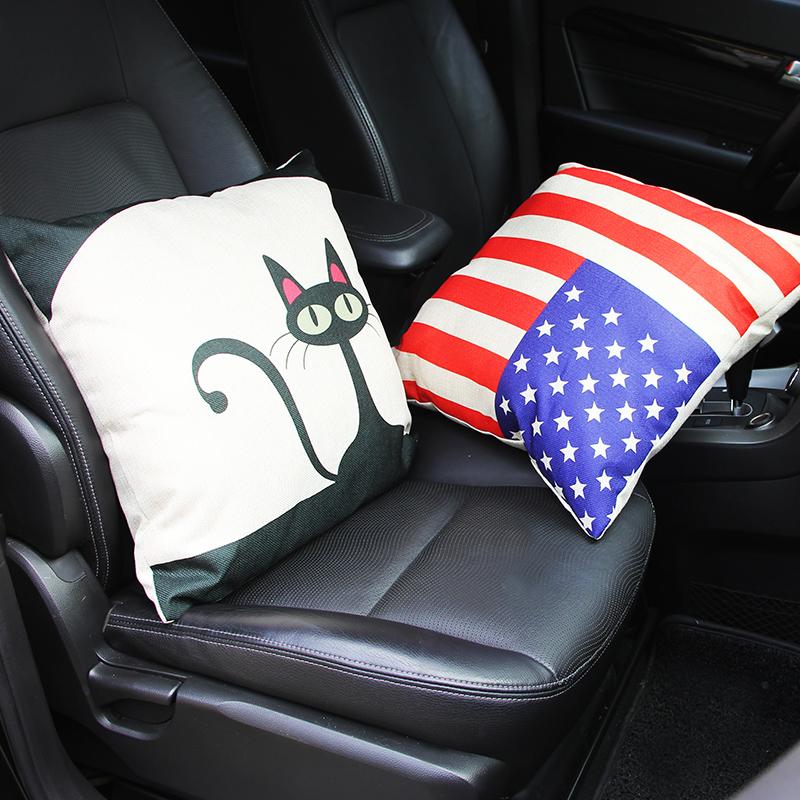 汽車座椅頭枕車用靠枕護頸枕頭靠墊腰墊車載靠背腰靠四季 抱枕