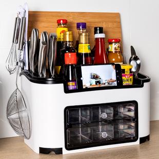 厨房调料盒置物架调味罐子多功能油盐酱醋瓶全套收纳储物套装家用价格