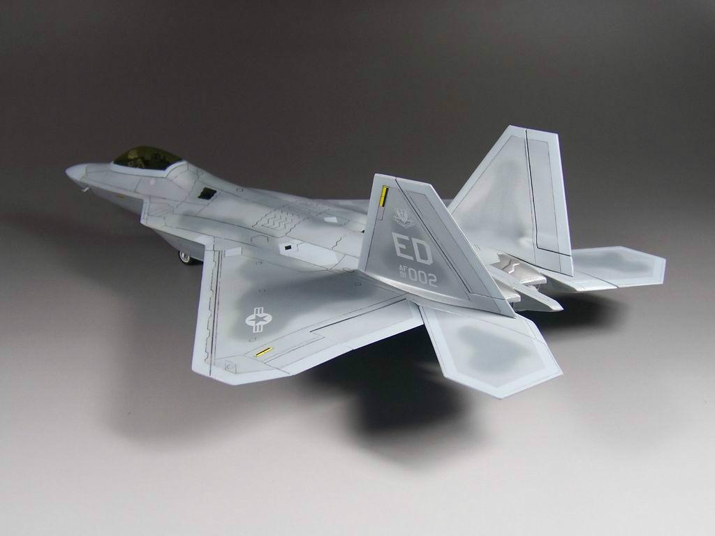 小號手拚裝軍事飛機模型1 72仿真美國二戰軍用F~22戰鬥機組裝航模