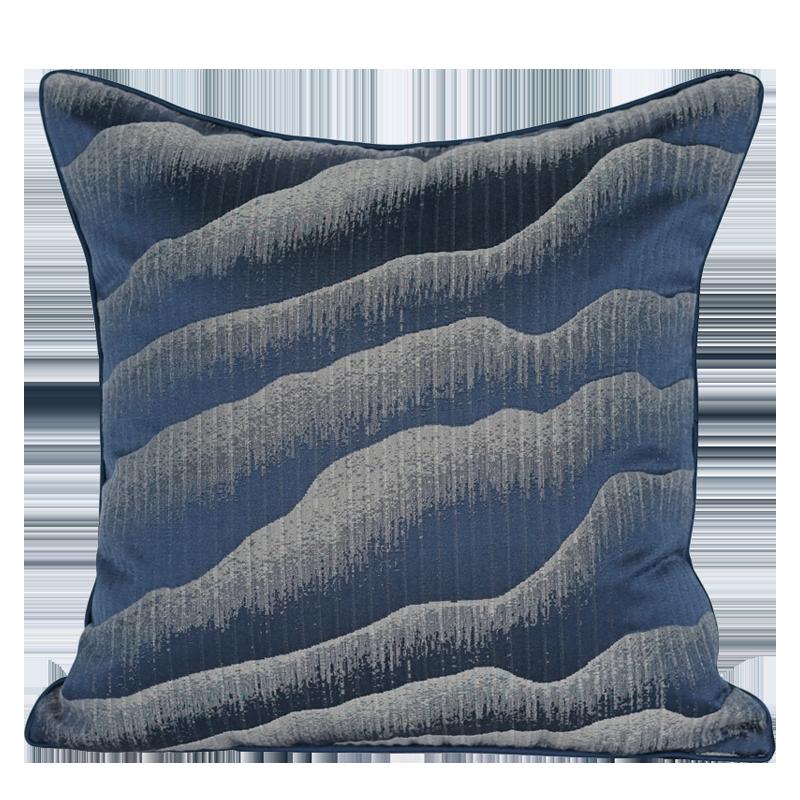 渐变山峦新中式靠枕现代简约靠包靠垫靠枕样板房沙发装饰抱枕