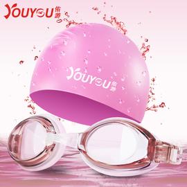泳镜泳帽套装男女游泳眼镜高清防水防雾近视大框潜水成人儿童装备图片