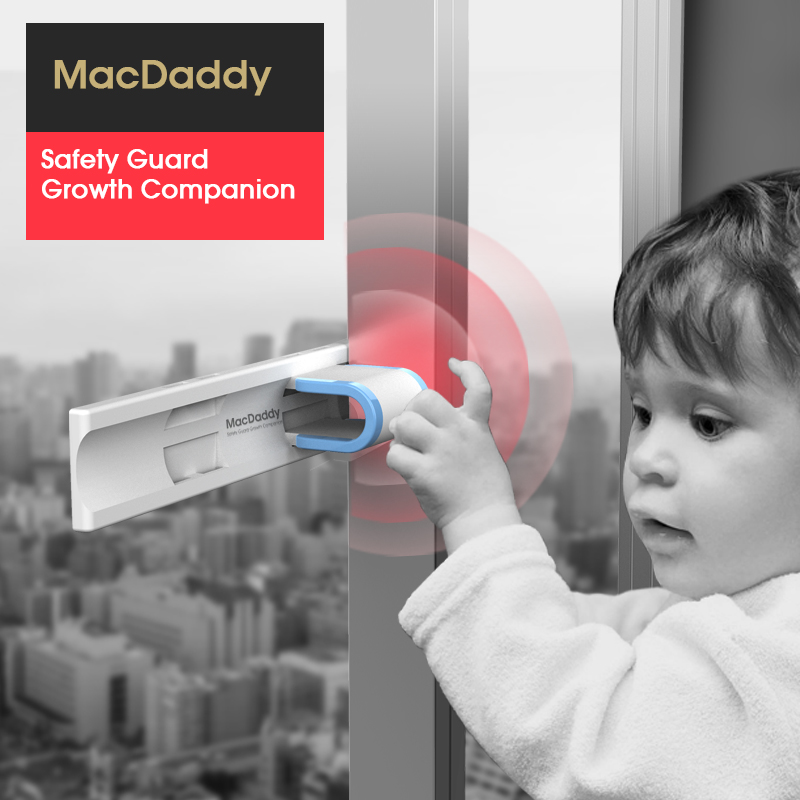 防坠妙锁窗户安全锁儿童防护限位器推拉门锁扣窗锁免打孔平开移门