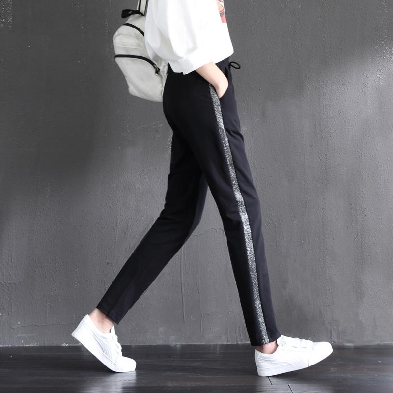 女童纯棉春秋外穿9-18岁儿童运动裤