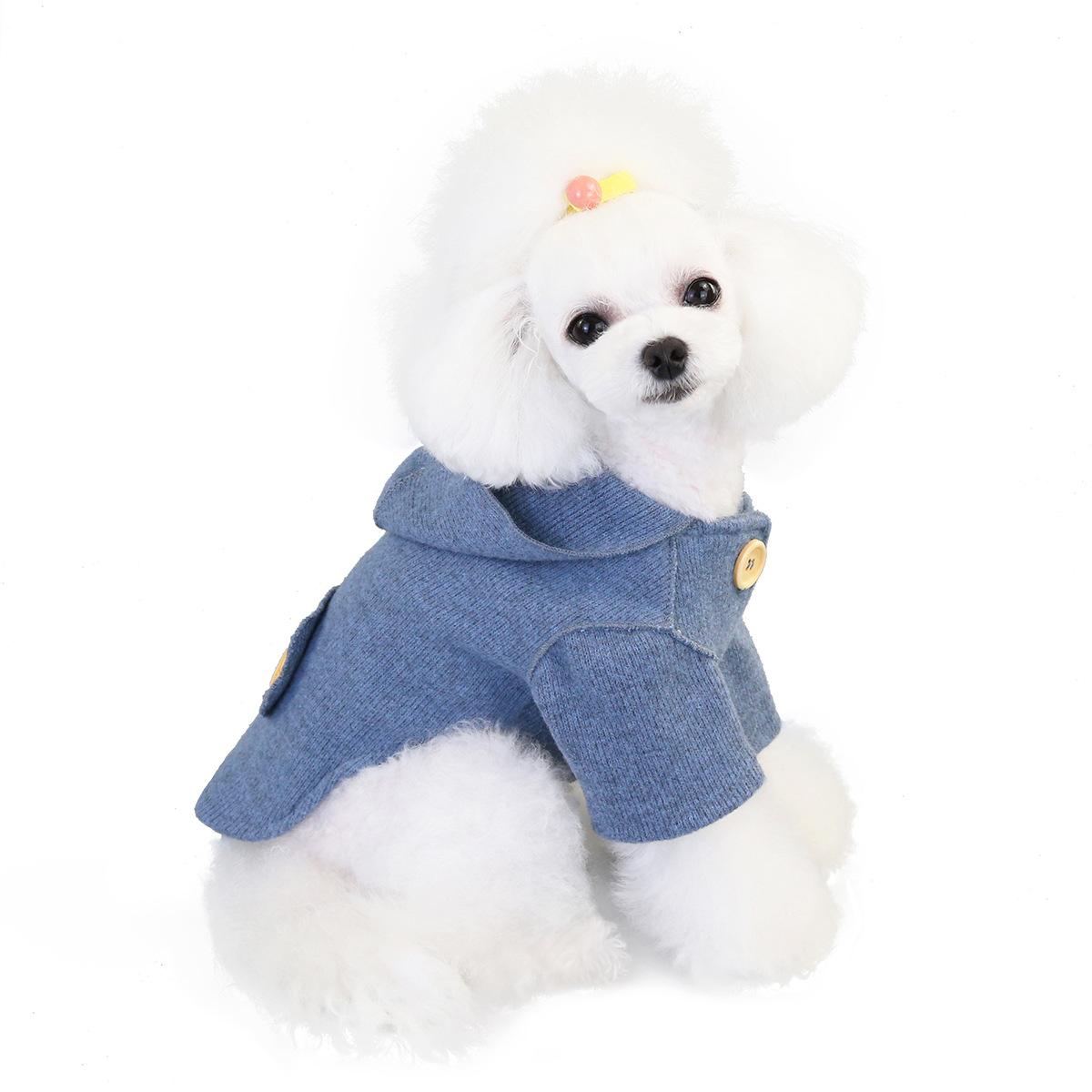 Pet clothing dog clothing autumn and winter new teddy dog pet clothing autumn and winter Korean woolen coat