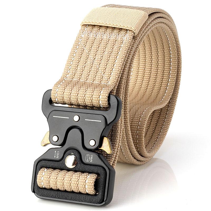 男士战术帆布腰带 户外军迷尼龙眼镜蛇皮带裤带插扣弹簧扣女加厚