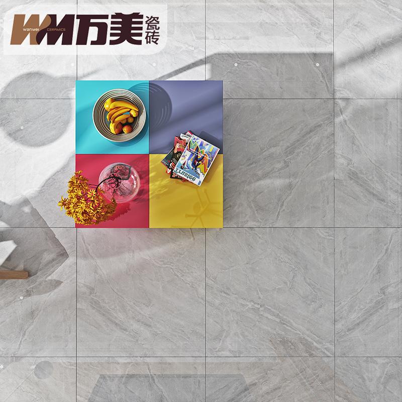 万美瓷砖地砖800x800地板砖新款 客厅防滑灰色通体大理石600X1200