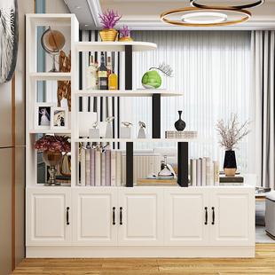 玄關柜裝飾柜子置物架酒柜簡約現代屏風隔斷鞋柜一體進門客廳門廳