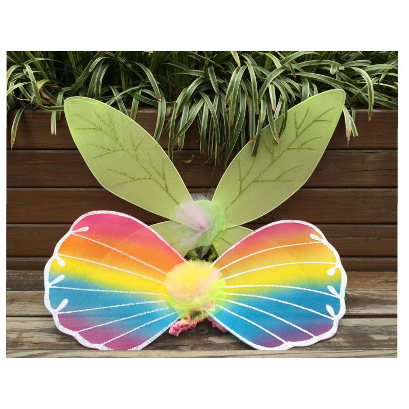 万圣节装备小叮当翅膀布肩带环保仙子精灵礼物表演COS蝴蝶翅膀