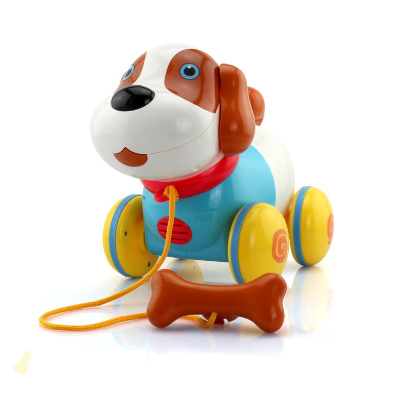 盈佳電動拖拉機器狗智能感應狗兒童拉線牽繩寵物小狗玩具1~2~3歲