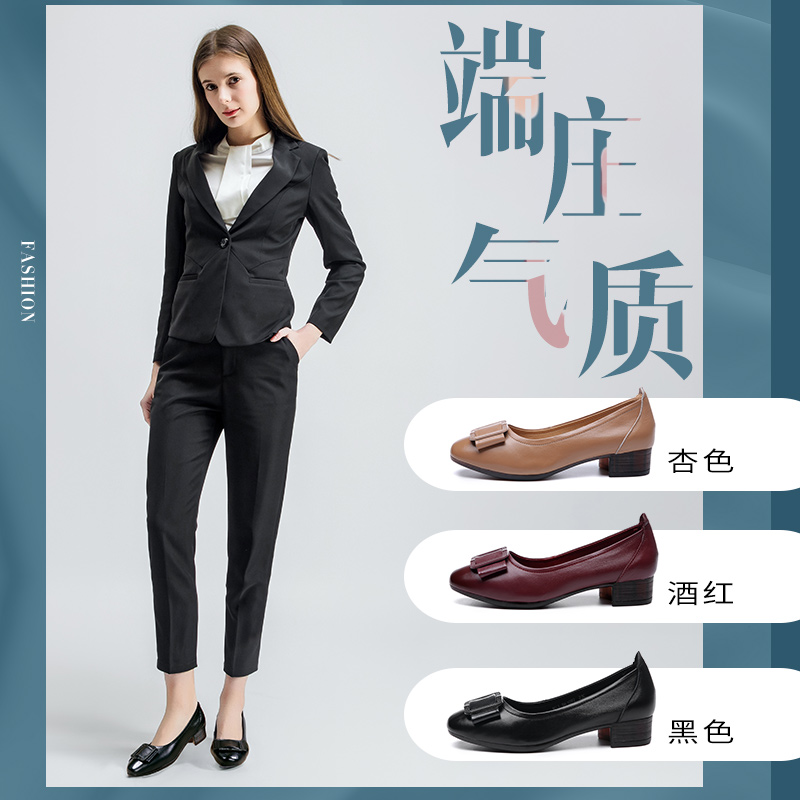 Womens shoes at the age of 40 and 50: Genuine Leather mothers shoes with soft soles and comfortable hole sandals