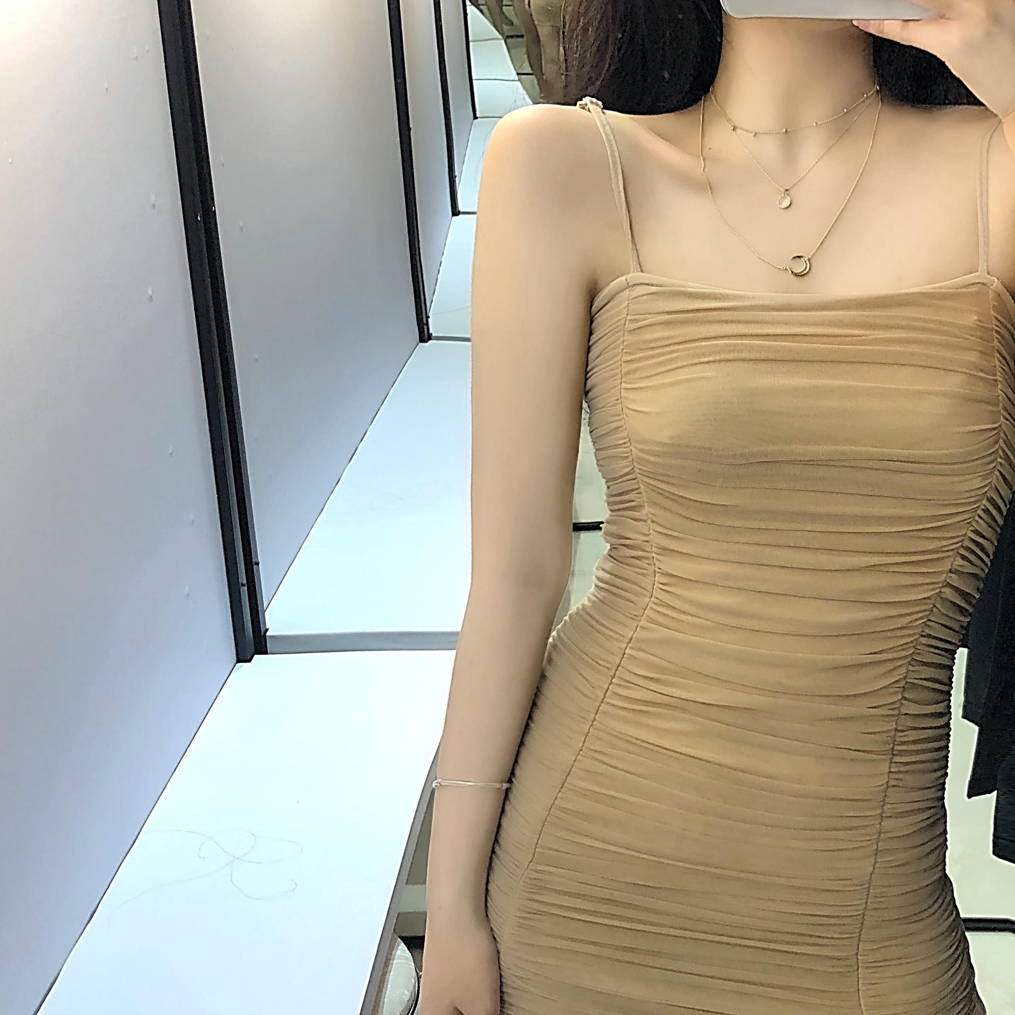 12月02日最新优惠wuuus人间妲己显瘦a爆吊带连衣裙