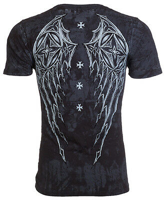 Purchase of influence Cross Stone Harley Knight print mens round neck short sleeve T-shirt for ventilation