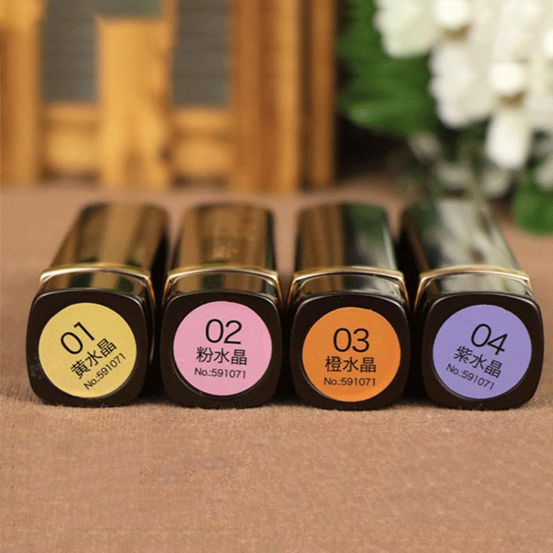 LCHEAR/ Luqi gold foil crystal temperature lipstick does not fade, moisturize, moisturize, lipstick, student girl.