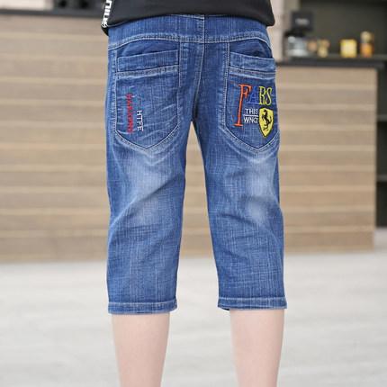 男童牛仔全棉中大七分裤休闲岁中裤