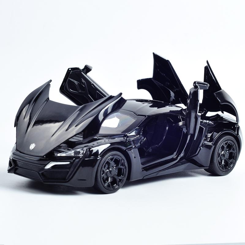 來肯跑車兒童玩具車速度激情與道奇合金車模型1:32聲光回力小汽車