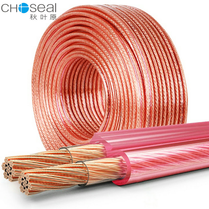 Autumn Leaf Sound Wire Pure Copper Fever Home Theater Surrounding Sound Box Wire Horn Wire Automobile Refitting Subwoofer Amplifier Audio Connection Wire Renovation Project Hifi High Fidelity 50-504 Core