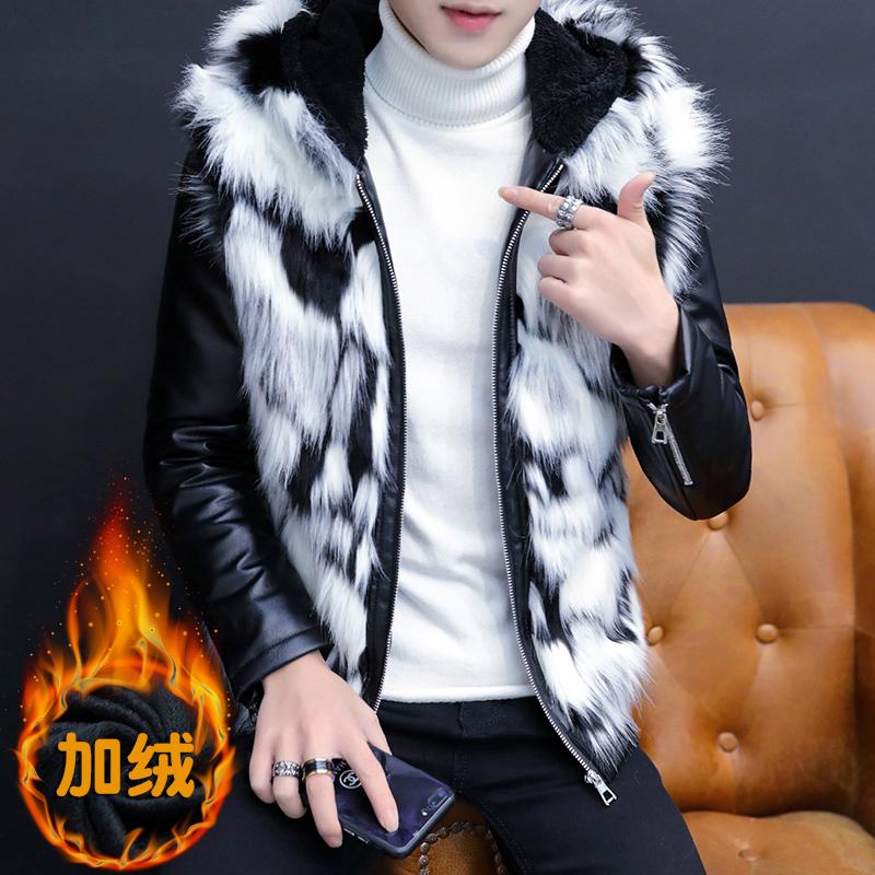 Fur school boys new winter imitation fur jacket for boys and teenagers