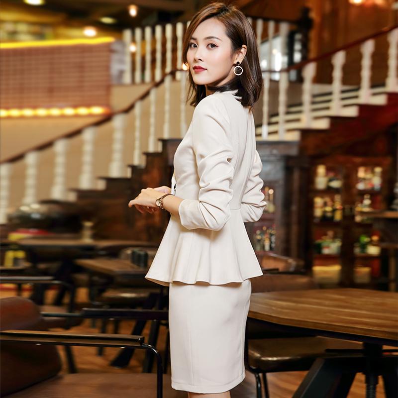 高端职业装正装女套装气质女神范工装工作服空姐制服时尚韩版秋季,可领取5元天猫优惠券