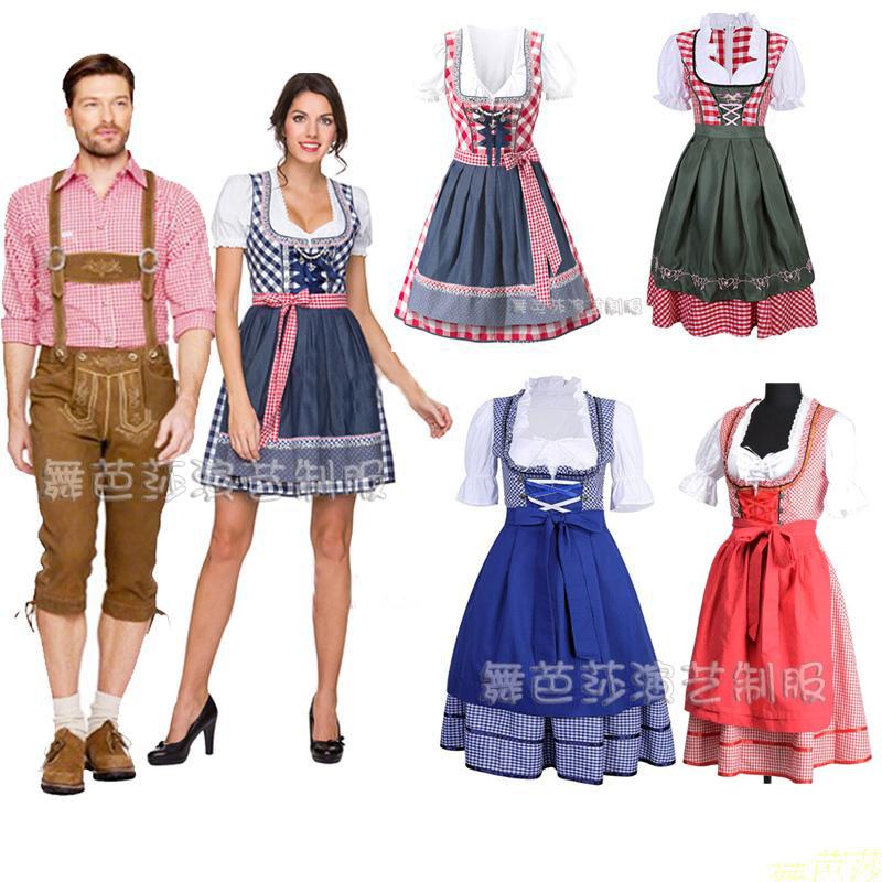 德国啤酒节服装男女款 酒会派对装  促销服舞台服 高档酒庄工作服