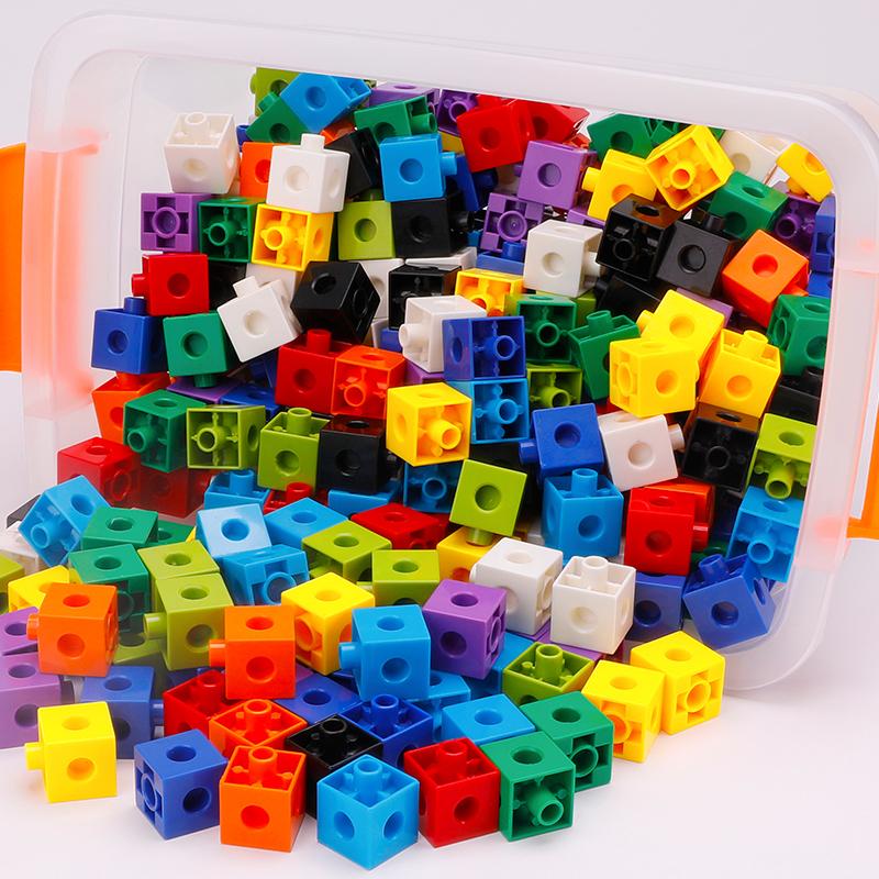 方块拼装塑料幼儿园早教6积木玩具限100000张券