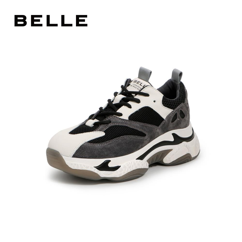 Belle's little tiger tooth old father shoes women's 2019 new muffin thick soled sports casual shoes 90801cm9