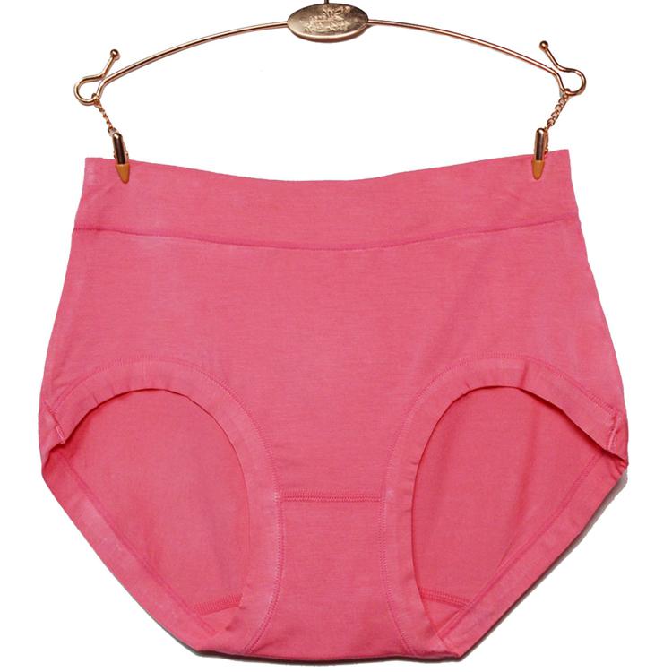 4条装竹纤维大码三角裤女士内裤