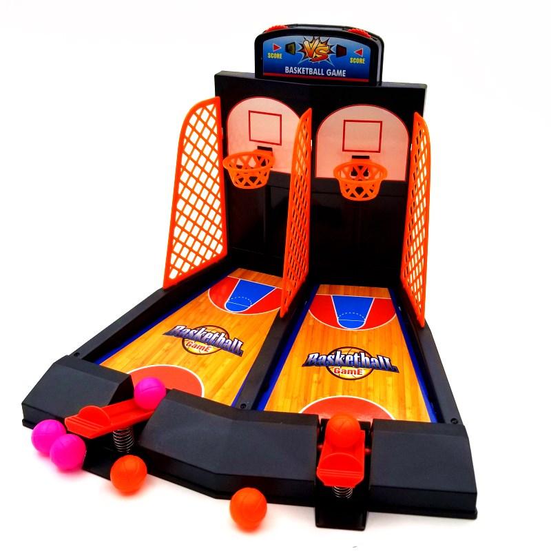Родительское взаимодействие для отдыха Игра Настольная игра двойной выстрел баскетбольная машина атлетическая игра детские рабочий стол мужской Детские игрушки