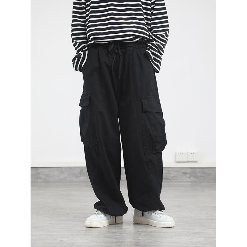 日系港风街头慵懒口袋休闲工装裤限100000张券